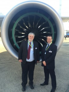 Tom Mallon and Michael Thompson proud to be associated with the C-Series visit