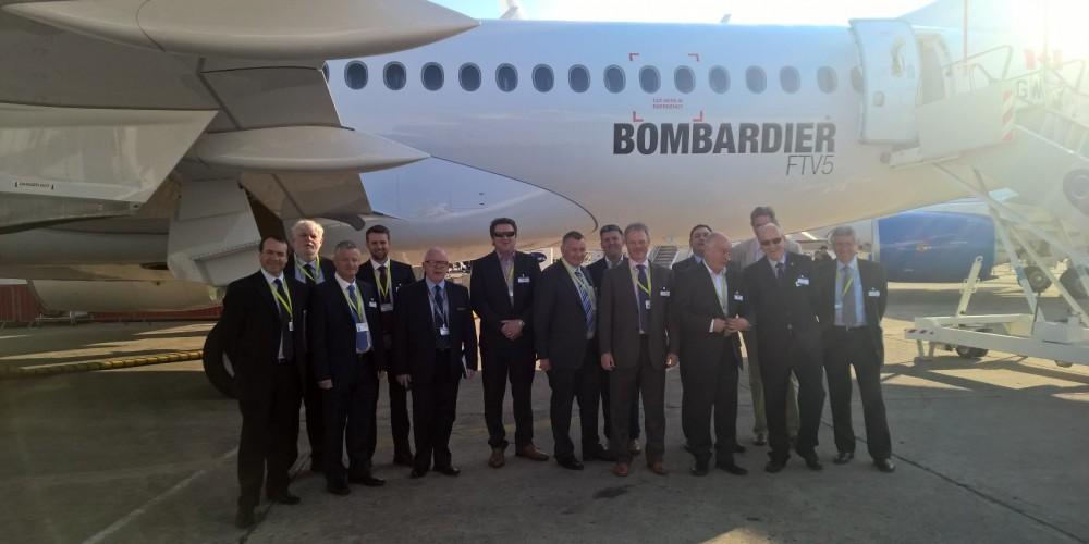 Members of the NI Aerospace Industry visit Bombardier C-Series at Paris Airshow
