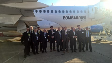 Members of the NI Aerospace Industry visit Bombardier C-Series at Paris Airshow